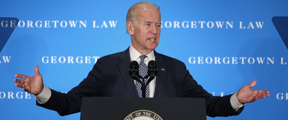 PHOTO:Vice President Joe Biden delivers remarks at Georgetown University Law Center, March 24, 2016, in Washington.