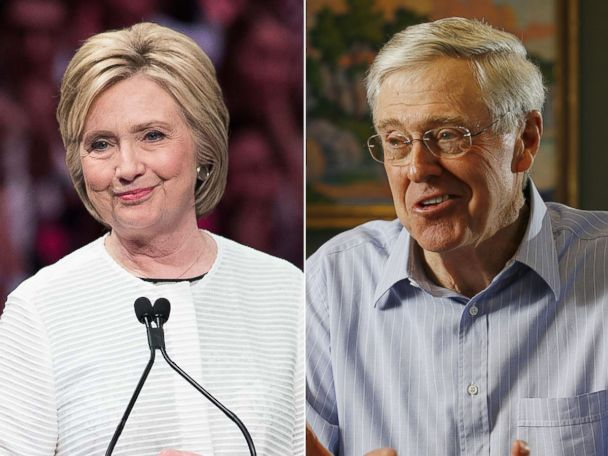 Koch Brothers-Tied Ad Mentions Hillary Clinton for First Time