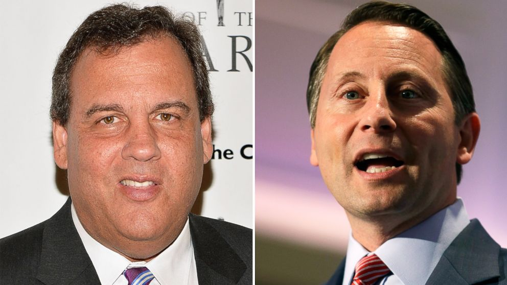 PHOTO: Left, New Jersey Governor Chris Christie attends the 2014 Father Of The Year Awards at New York Hilton on June 4, 2014; right, Rob Astorino attends the State Party Convention in Rye Brook, N.Y., May 15, 2014.