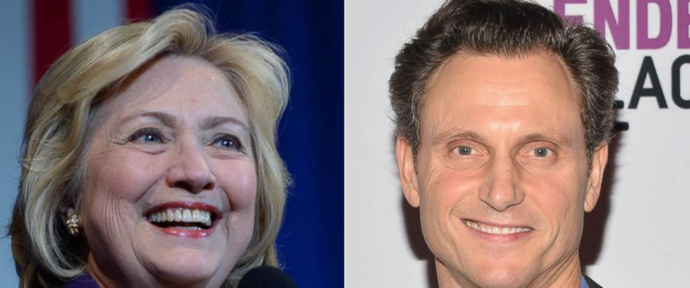 PHOTO: Democratic Presidential candidate Hillary Clinton speaks at the Jefferson Jackson Dinner Nov. 29, 2015 in Manchester, N.H. | Tony Goldwyn attends the Film Independent at LACMA Live Read at LACMA on Nov. 19, 2015 in Los Angeles.