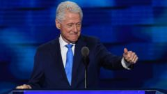 PHOTO: Former US president Bill Clinton addresses the second day of the Democratic National Convention, July 26, 2016 in Philadelphia.