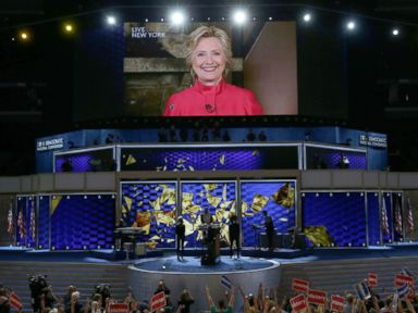 Hillary Clinton Makes Surprise Satellite Appearance at DNC