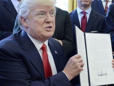 Trump signs executive order to help remove 'job-killing regulations'