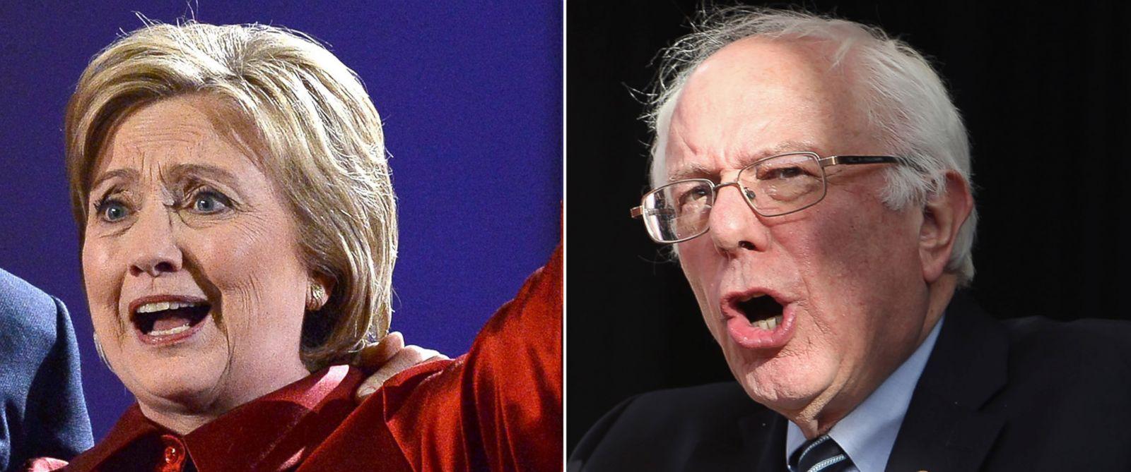 PHOTO: Hillary Clinton and Sen. Bernie Sanders.