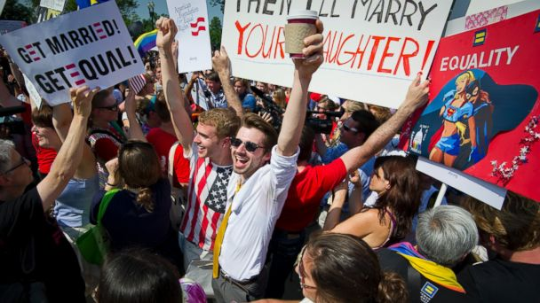 GTY Gay Marriage Rally TG 140624 16x9 608 One Year After Top Courts Ruling Gay Marriage Is Legal in 19 States