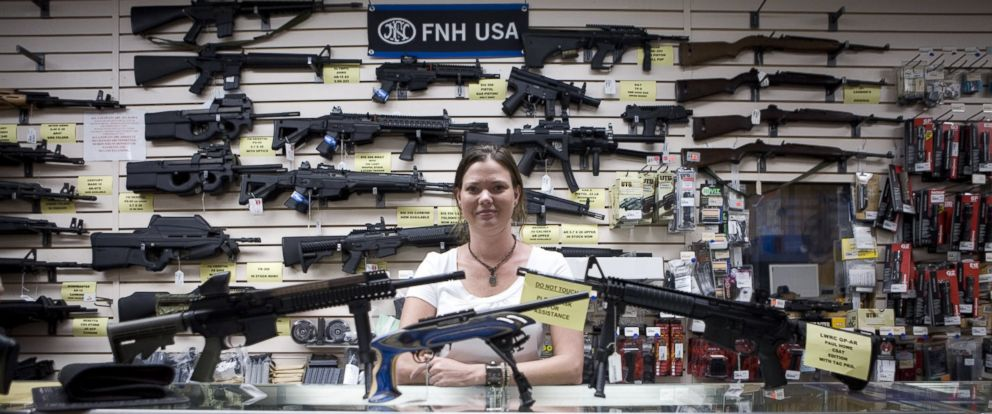 PHOTO: Gina Brewer, the manager of Texas Gun, in San Antonio on June 17 2009.