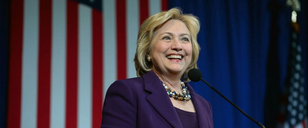 PHOTO: Democratic Presidential candidate Hillary Clinton speaks at the Jefferson Jackson Dinner at the Radisson Hotel Nov. 29, 2015 in Manchester, N.H.