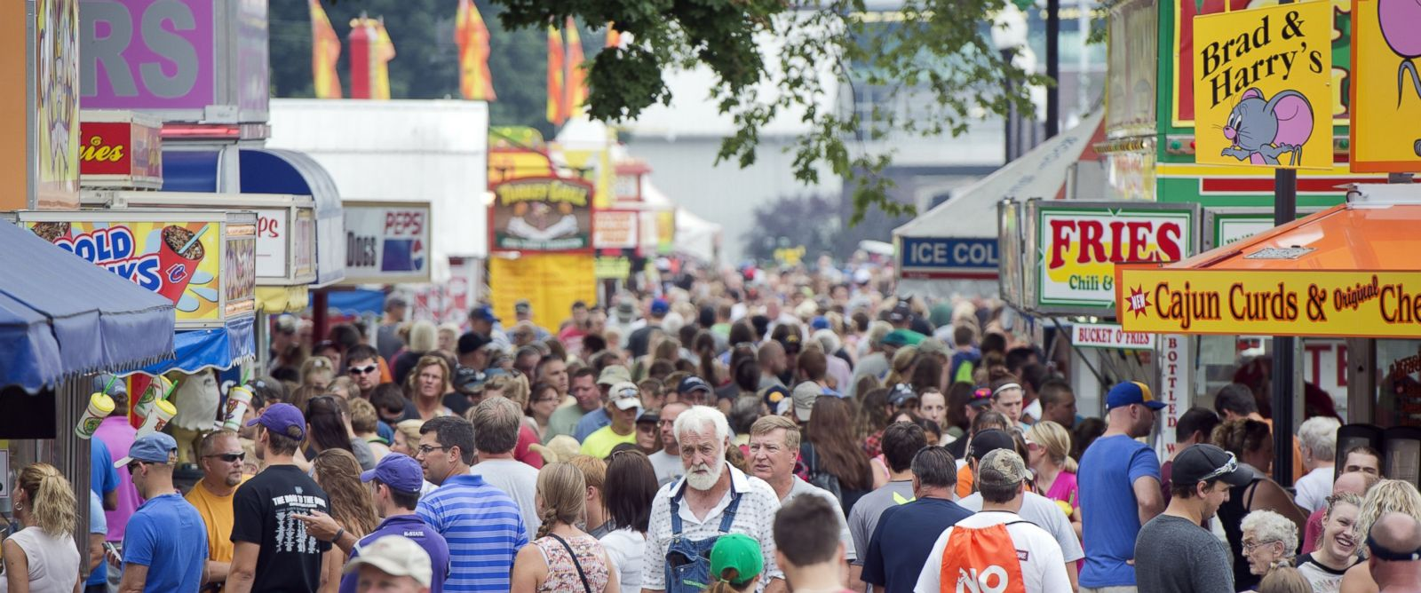 PHOTO: Guests walk though the 2014 Iowa State Fair in Des Moines, Iowa on Aug. 9, 2014.