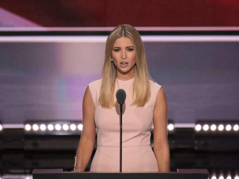 PHOTO: Ivanka Trump introduces her father GOP nominee Donald Trump for his acceptance speech at the 2016 Republican National Convention in Cleveland, on July 21, 2016.