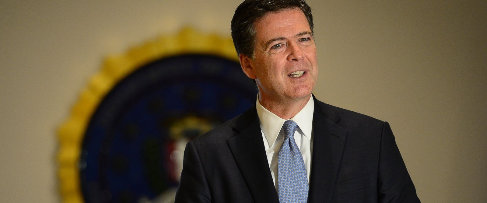 PHOTO:FBI Director James Comey answers questions from the media during a press conference, July 23, 2015 at the FBI Denver Field Office in Denver.