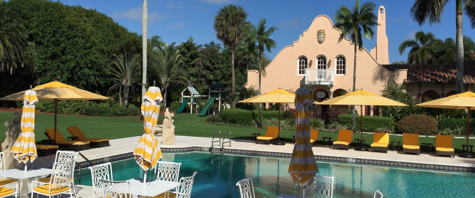 PHOTO: The swimming pool that Trump built at Mar-a-Lago is pictured here on Nov. 1, 2015 in Palm Beach, Fla.