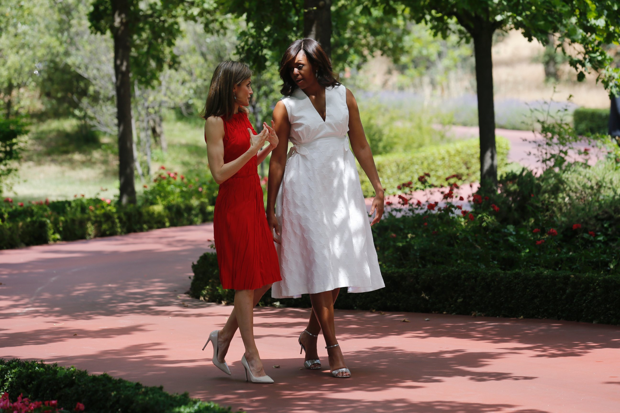 Michelle Obama Visits Madrid