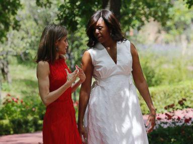 Photos:  Michelle Obama Visits Madrid
