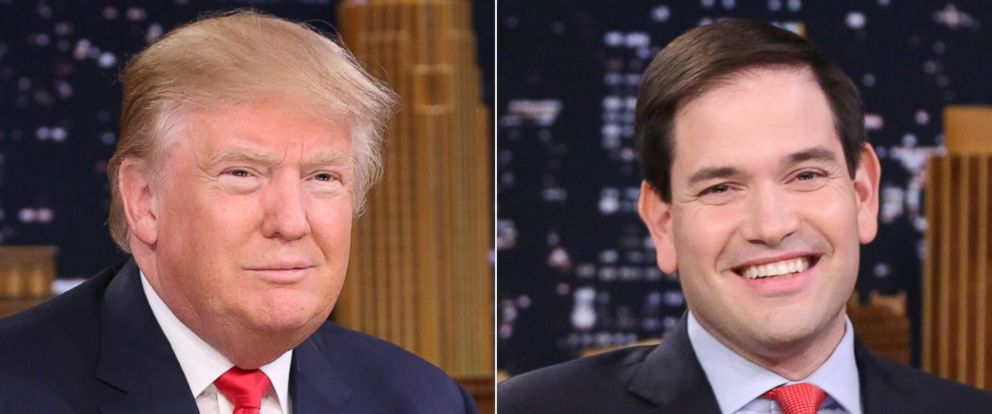 "PHOTO: Presidential candidate Donald Trump during an interview on ""The Tonight Show Starring Jimmy Fallon"" on Jan. 11, 2016 