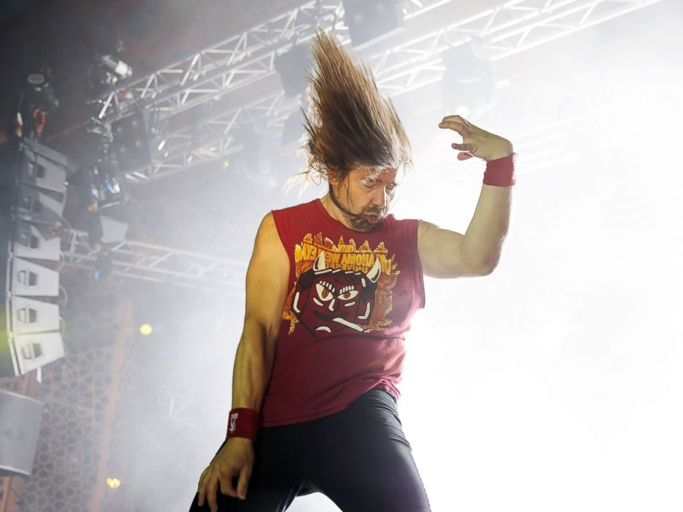 PHOTO: Eric Mean Melin Melin performs to win the 2013 Air Guitar World Championships in Oulu, Finland, Aug. 23, 2013.