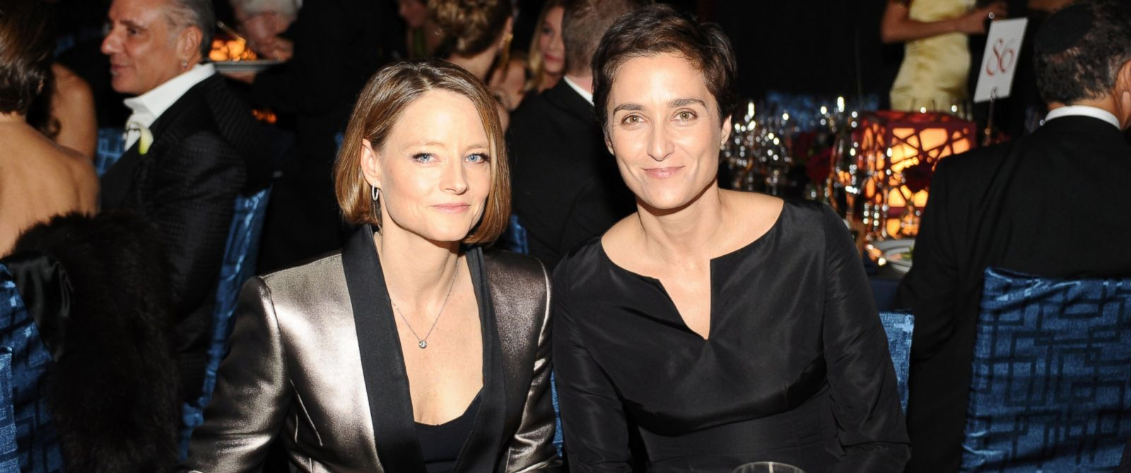 PHOTO: Jodie Foster and Alexandra Hedison attend the Wallis Annenberg Center for the Performing Arts Inaugural Gala presented by Salvatore Ferragamo at the Wallis Annenberg Center for the Performing Arts, Oct. 17, 2013, in Beverly Hills, Calif.