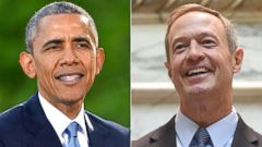 PHOTO: President Barack Obama on May 14, 2015 at Camp David, Md. | Governor Martin OMalley on Jan. 6, 2015 in Annapolis, Md.