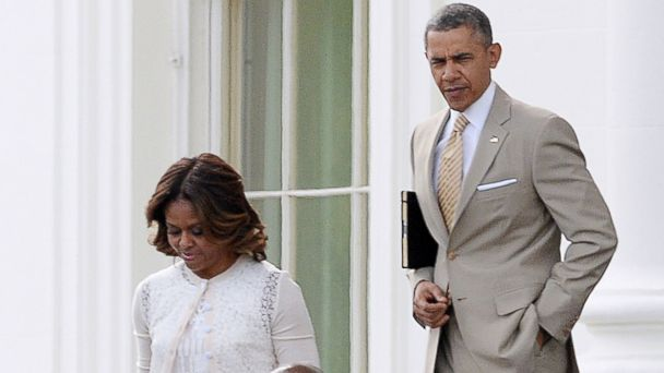 GTY barack obama michelle obama easter jt 140420 16x9 608 Obamas Get Some Extra Attention at Easter Church Service in D.C.