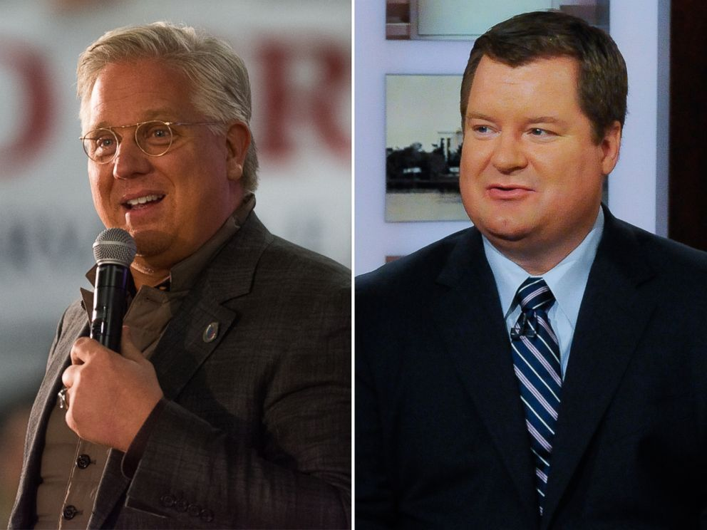 PHOTO: Glenn Beck endorses Sen. Ted Cruz during a rally in Reno, Nevada, Feb. 22, 2016. | Erick Erickson, founder of Resurgent, appears on Meet the Press, Feb. 28, 2016.