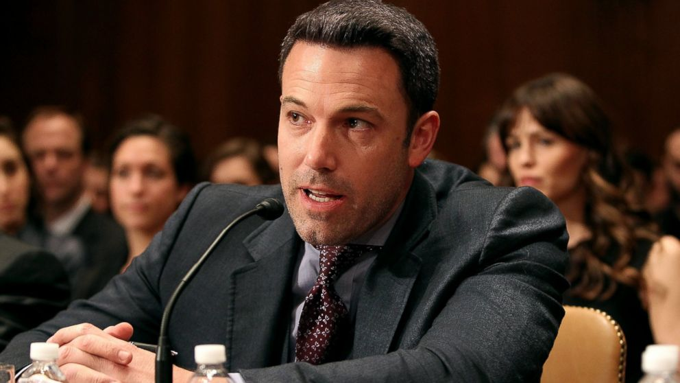 PHOTO: Ben Affleck testifies before a Senate Appropriations State, Foreign Operations, and Related Programs Subcommittee hearing on Diplomacy, Development, and National Security on Capitol Hill in Washington, March 26, 2015.