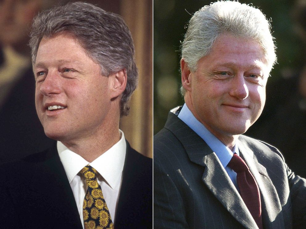 54 shades of gray an aging president obama compared to past presidents abc news - Bill clinton years in office ...