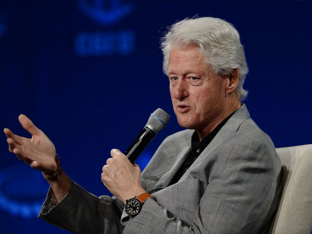 PHOTO: Former US President Bill Clinton attends the Clinton Global Initiative University at University of Miami on March 7, 2015 in Miami, Florida.