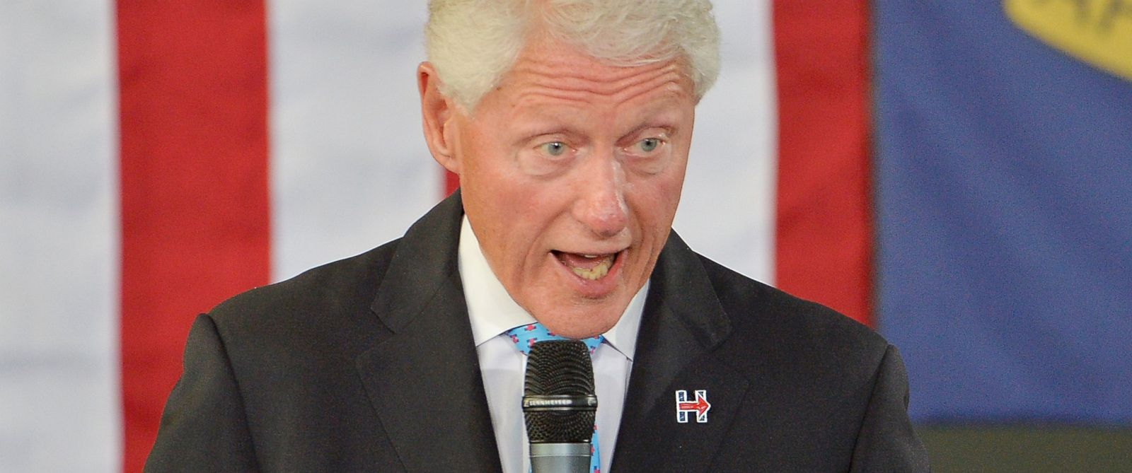 PHOTO: Former President Bill Clinton speaks at the Community Family Life & Recreation Center at Lyon Park, Sept. 6, 2016 in Durham, North Carolina.