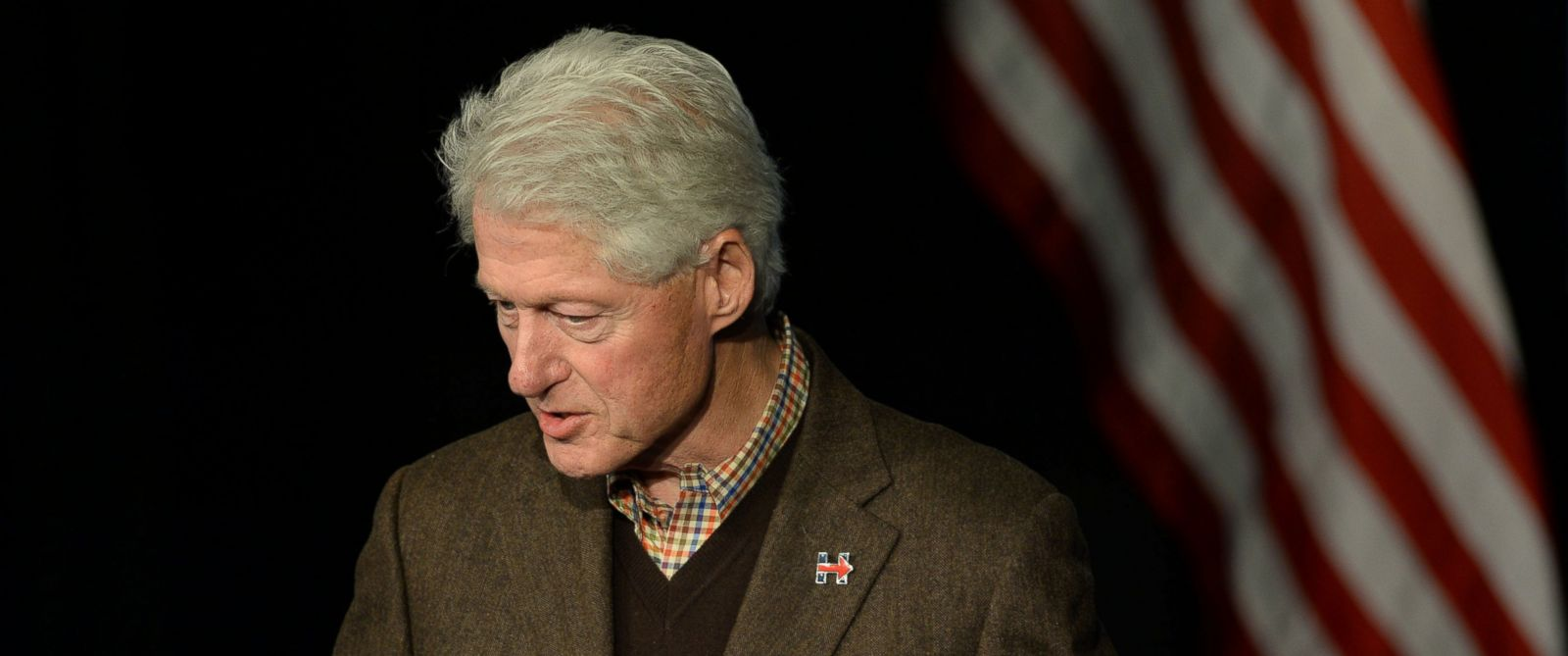 PHOTO: Former President Bill Clinton speaks at Exeter Town Hall, Jan. 4, 2016 in Exeter, N.H. Bill Clinton spent the day campaigning for his wife, Democratic presidential candidate Hillary Clinton.