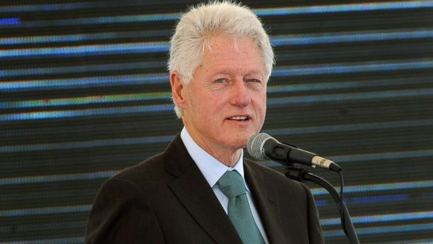 PHOTO: Former US President Bill Clinton speaks, Feb. 21, 2013 during the inauguration ceremony for the first phase of the Eko Atlantic real estate project, in Lagos, Nigeria.
