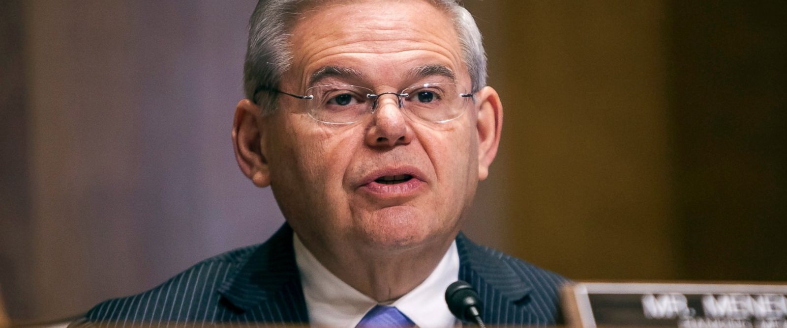 PHOTO: Bob Menendez (D-N.J.) speaks during a Senate Foreign Relations committee hearing on U.S. and Cuban relations in Washington, Feb. 3, 2015.