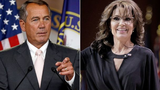 GTY boehner palin jef 140714 16x9 608 7 Republicans Who Disagree With Sarah Palin on Impeaching Obama