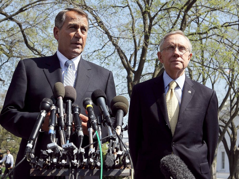 PHOTO: Speaker of the House Rep. John Boehner and Senate Majority Leader Sen. Harry Reid