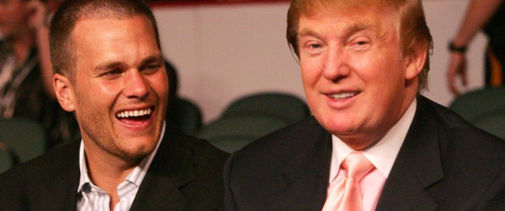 PHOTO: Tom Brady, left, and Donald Trump, right, are pictured on June 25, 2005.