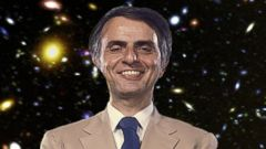 PHOTO: Astrophysicist Carl Sagan poses before a Florida State Universty Distinguished Lecture Series speech at the Turnbull Conference Center in circa 1984 in Tallahassee, Fla.