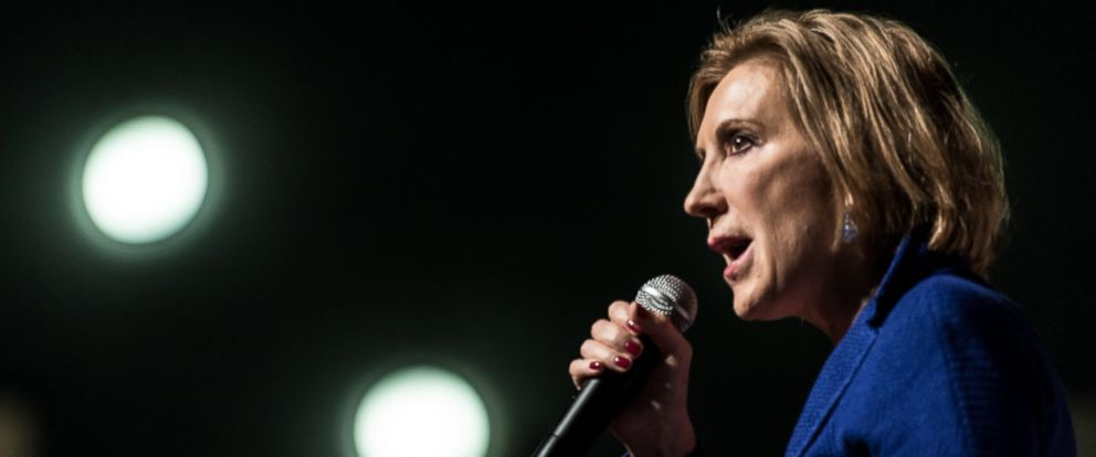 PHOTO: Republican presidential candidate Carly Fiorina speaks to voters at a town hall meeting, Oct. 2, 2015 in Aiken, S.C.