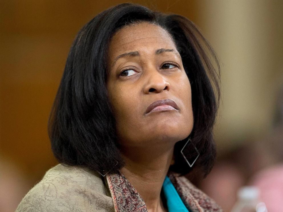 PHOTO: Cheryl Mills, former State Department chief of staff under former Secretary of State Hillary Clinton, attends a House Select Committee on Benghazi hearing in Washington, Oct. 22, 2015.