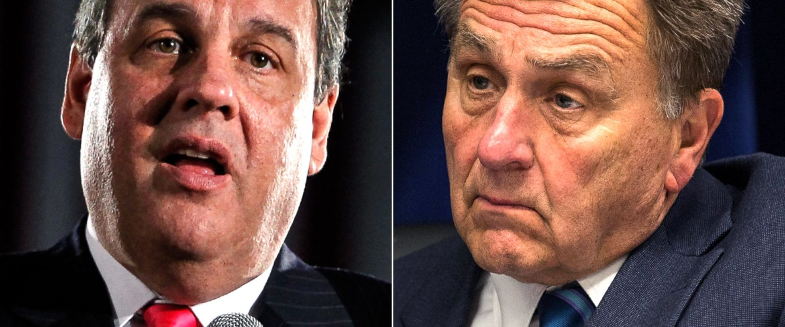 PHOTO: N.J. Gov. Chris Christie and the former chairman of The Port Authority of New York and New Jersey, David Samson.