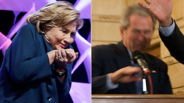 GTY clinton bush shoes kab 140411 16x9 608 Clinton, Bush and a Fast Flying Shoe: Who Dodged It Best?