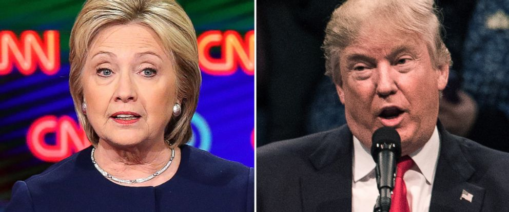 PHOTO: Hillary Clinton and Donald Trump.
