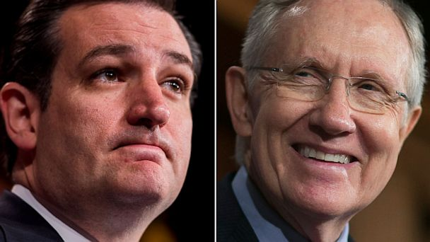 GTY cruz reid jtm 130927 16x9 608 Senate Passes Budget Bill, Setting Up Weekend Showdown