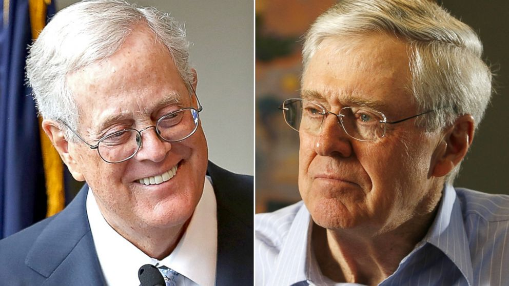 Koch brothers plan to spend 889 million on 2016 here s for David charles koch