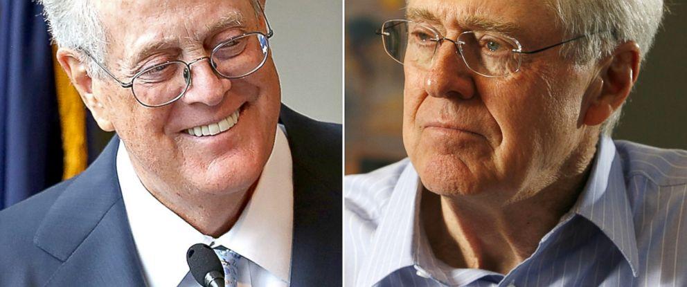 PHOTO: David H. Koch seen Sept. 9, 2009 in New York City. | Charles Koch seen Feb. 26, 2007.