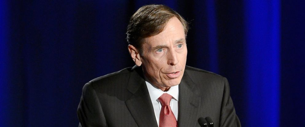 PHOTO: Former CIA director and retired four-star general General David Petraeus makes his first public speech since resigning as CIA director on March 26, 2013 in Los Angeles, Calif.