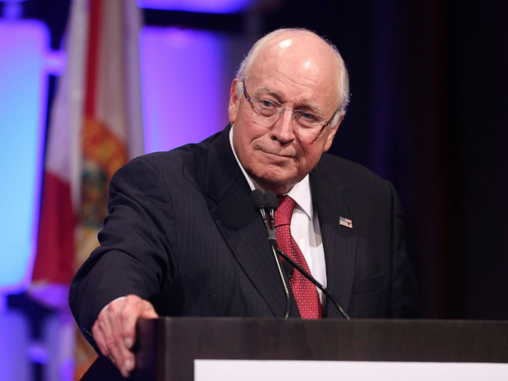 PHOTO: Former Vice President Dick Cheney speaks at the Sunshine Summit opening dinner at Disneys Contemporary Resort, Nov. 12, 2015 in Orlando, Florida.