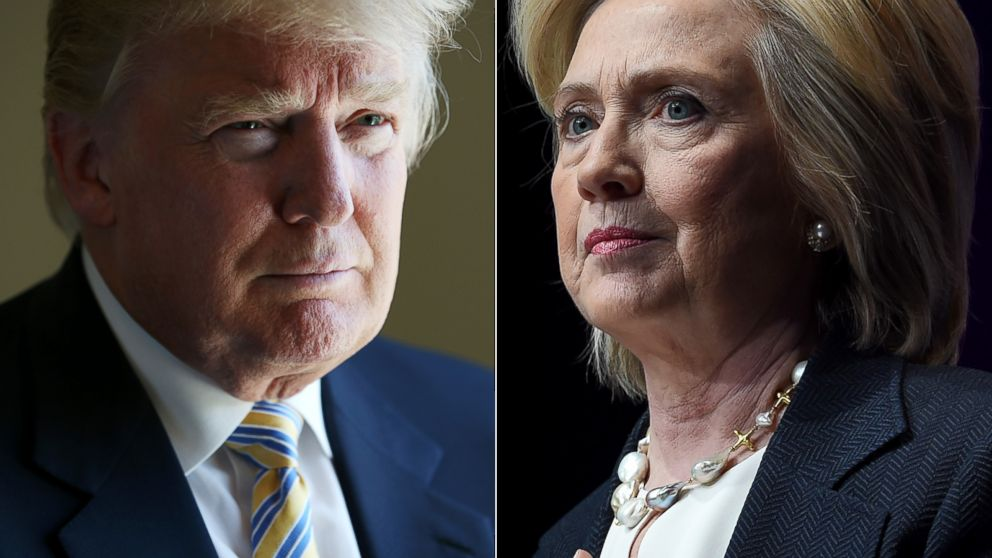 Image result for hillary clinton and trump