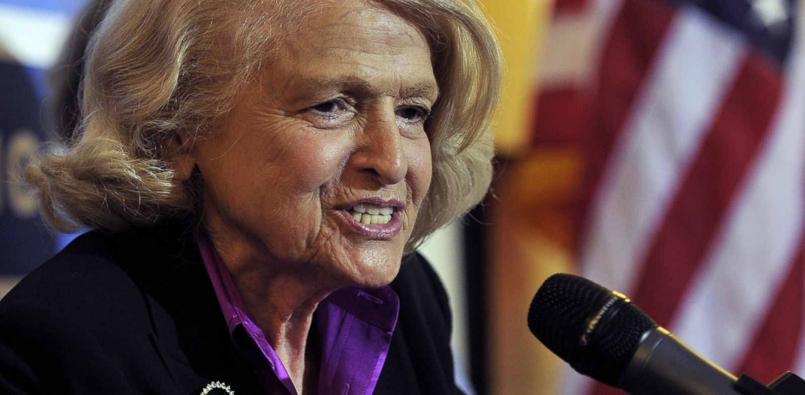PHOTO: Defense of Marriage Act plantiff Edith Windsor speaks at a press conference at the The Lesbian, Gay, Bisexual and Transgender Community Center in New York on June 26, 2013.