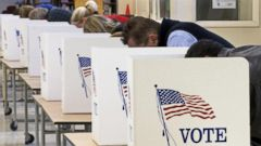 PHOTO: Voters cast their ballots on Election Day November 04, 2008, at Centreville High School in Clifton, Virginia.