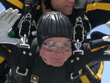 George H. W. Bush Marks 90th Birthday by Skydiving