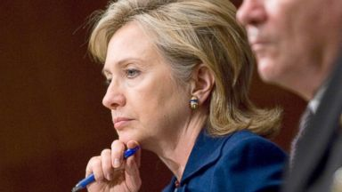 PHOTO: Secretary of State Hillary Clinton, Secretary of Defense Robert Gates and Chairman of the Joint Chiefs of Staff Adm. Mike Mullen listen to a question during a Senate Armed Services Committee hearing on Afghanistan, Dec. 02, 2009.