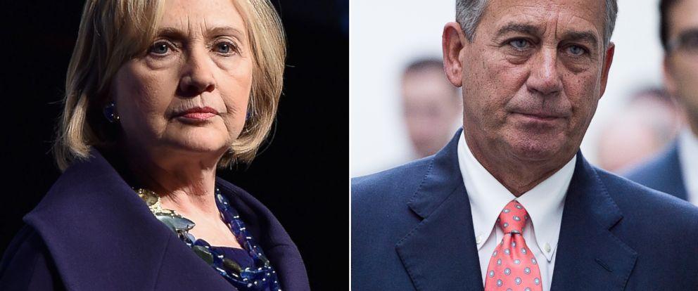 PHOTO: Hillary Clinton | John Boehner